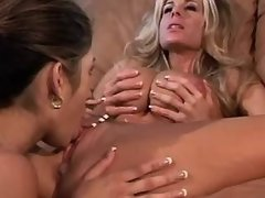 Attractive lesbian babes make love busty lesbian porn