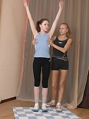 Exciting workout led by a lesbian coach lesbian porn pics