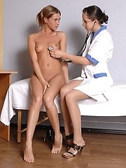 Pussy and body inspection... lesbian porn pics