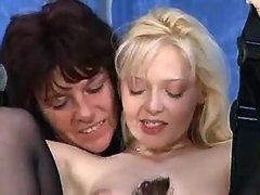 Two mature lesbians spoil innocent blonde... mature girl porn