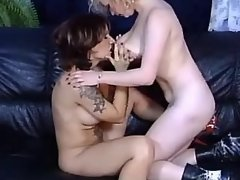 Chesty lesbian dildos juicy pussy mature girl porn
