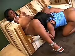Two sexy black lesbians caress each other black lesbian porn