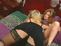 Wild lesbian hottie itching for sex stockings lesbian porn